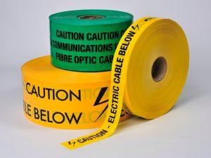 Gas warning tape
